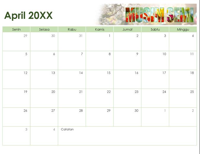 Kalender foto musiman