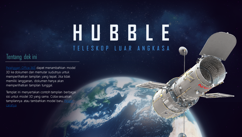 Presentasi PowerPoint 3D (Model Teleskop Hubble)