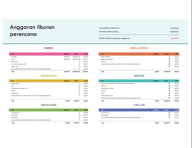 Perencana anggaran hari raya