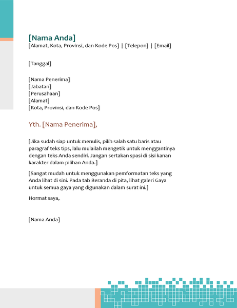 Kop surat teknologi minimalis