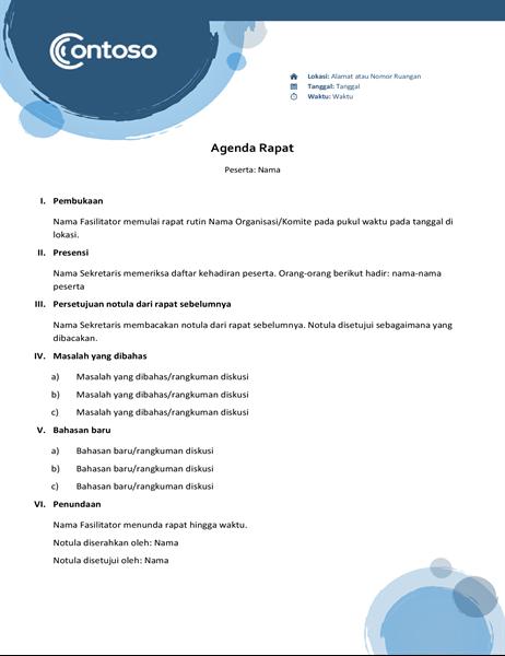 Agenda lingkaran biru