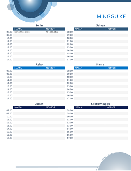 Kalender janji temu lingkaran biru