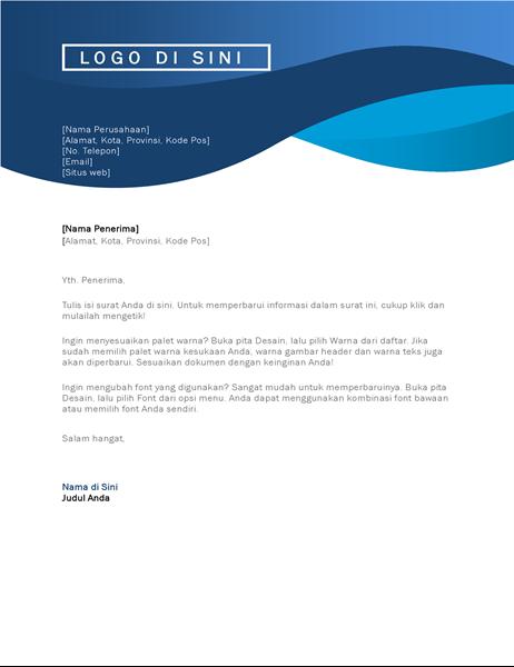 Kop surat lengkungan biru