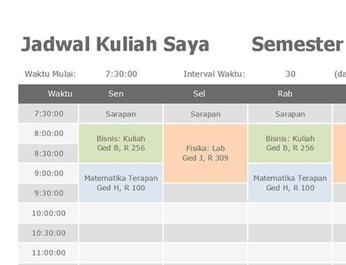 Jadwal kelas
