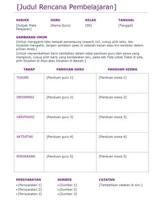 Rencana pelaksanaan pembelajaran (berwarna)