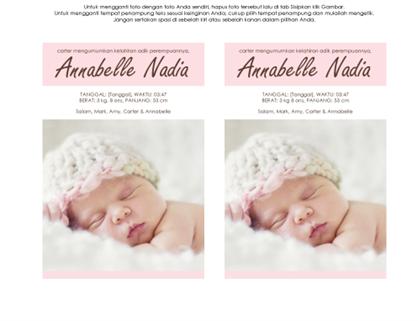 Pengumuman kelahiran bayi perempuan