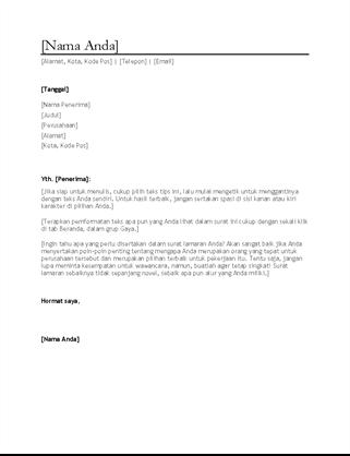 Surat lamaran kerja CV