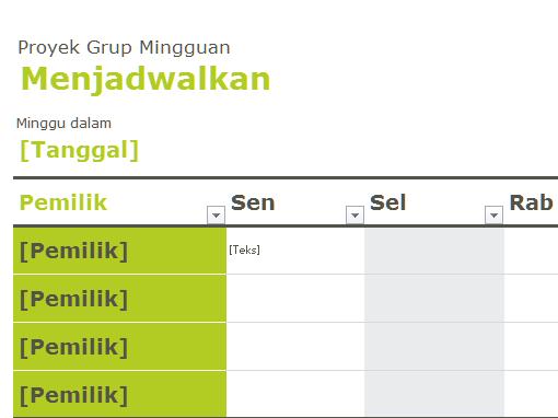 Jadwal grup