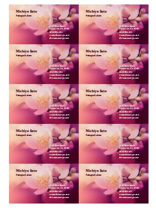 Kartu nama (foto bunga)