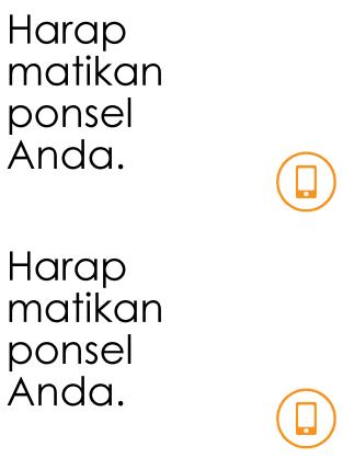 Poster pengingat untuk mematikan ponsel