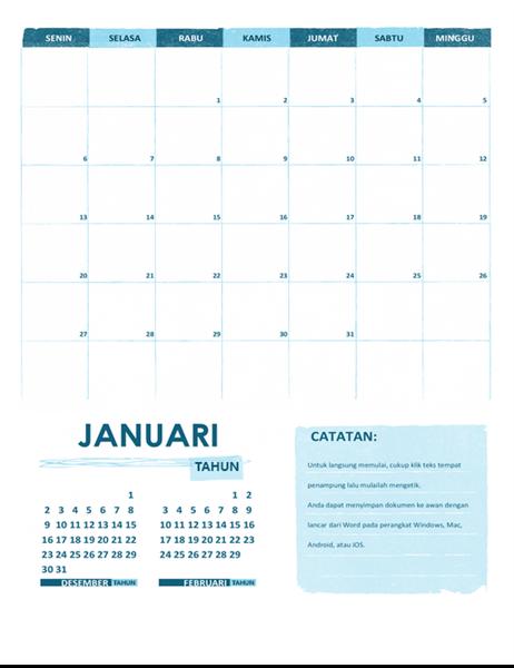 Kalender Akademik S-M (tahun berapa pun)