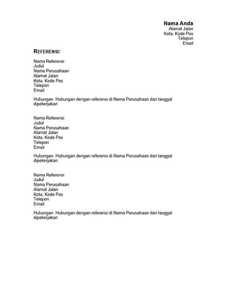 Referensi untuk resume