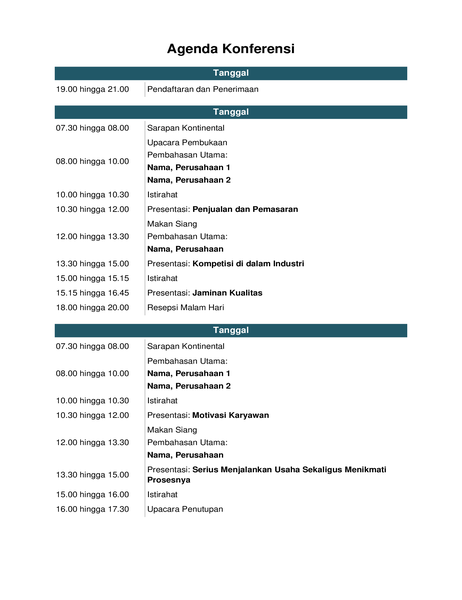 Agenda konferensi