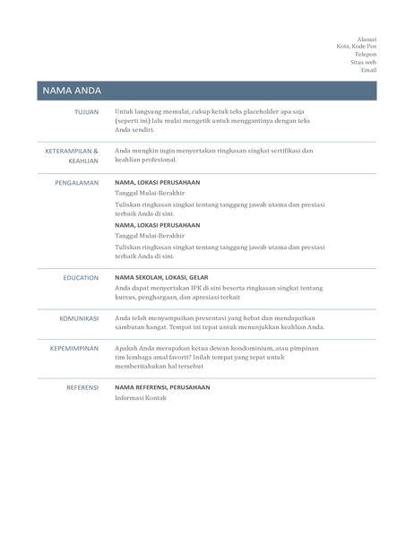 Resume (Desain Abadi)