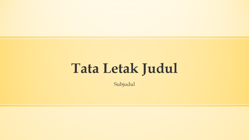 Presentasi desain bersalur kuning (layar lebar)