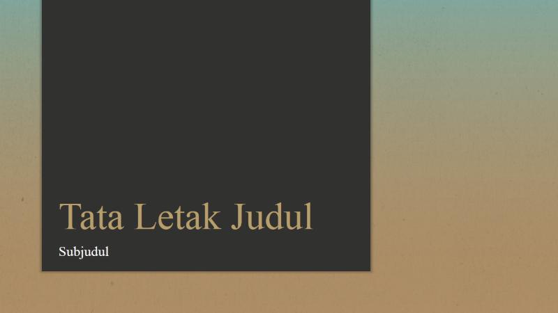 Presentasi Gradien Biru-Cokelat (layar lebar)