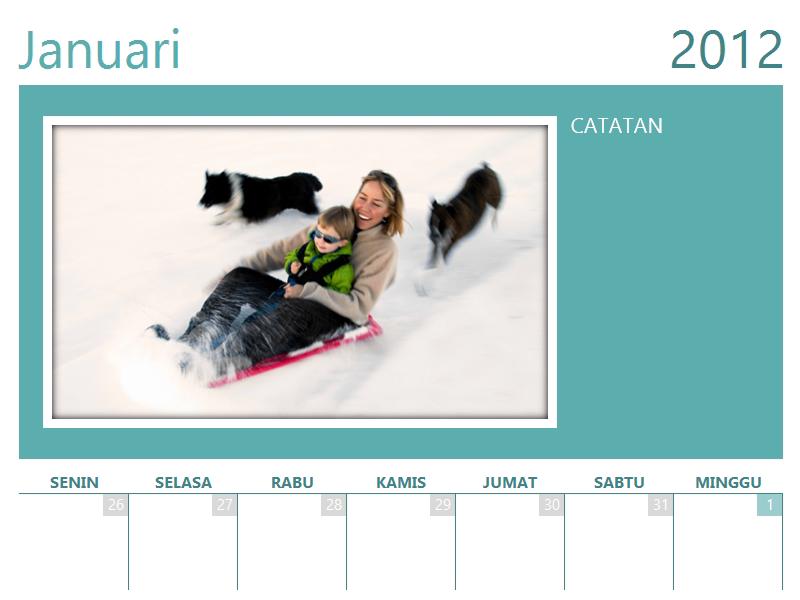 Kalender foto keluarga (Sen)