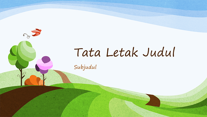 Presentasi alam, desain ilustrasi lanskap (layar lebar)