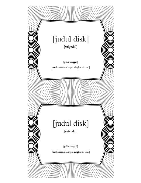 Label Sisipan CD (cocok untuk Avery 5693)
