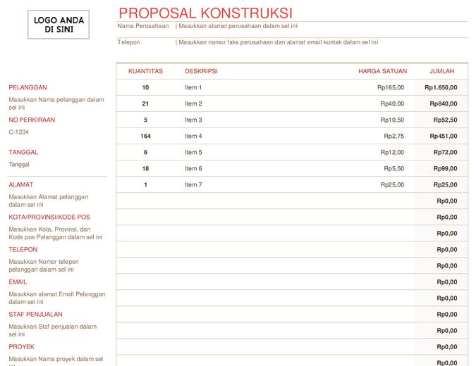 Proposal konstruksi