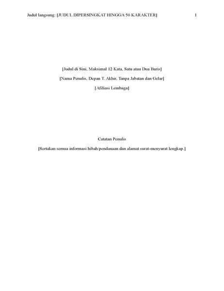 Laporan gaya APA (edisi keenam)