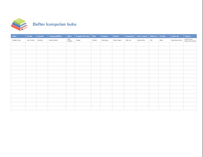 Daftar kumpulan buku