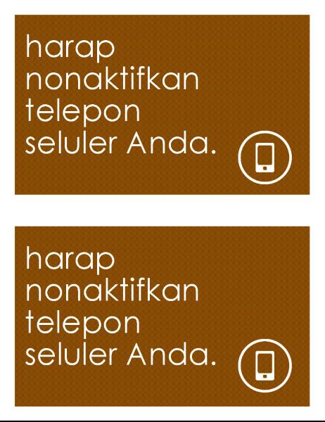 Tanda larangan menggunakan telepon seluler (2 per halaman)