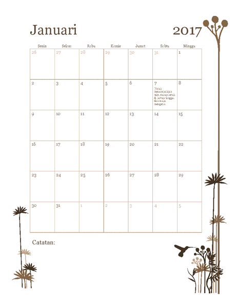 Kalender foto 2017 (Sen-Min)