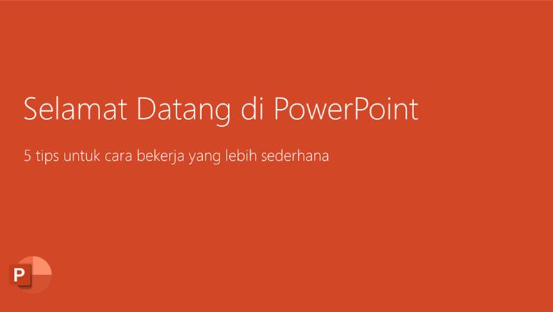 Selamat datang di PowerPoint