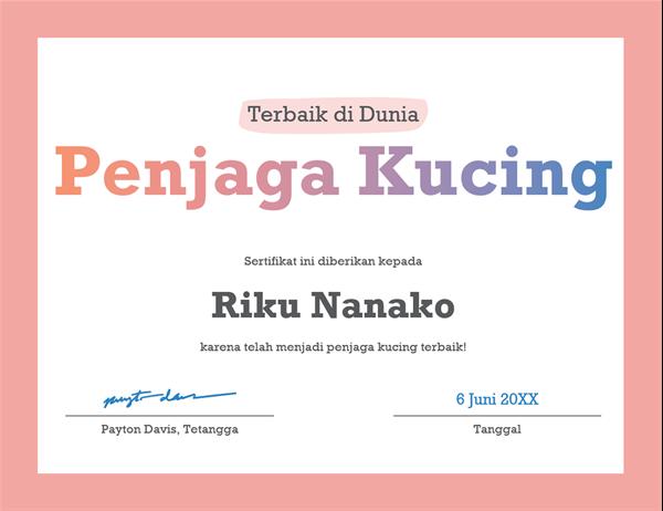 sertifikat ucapan terima kasih