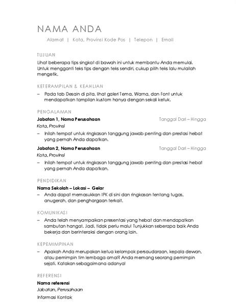 Resume (Desain Minimalis)