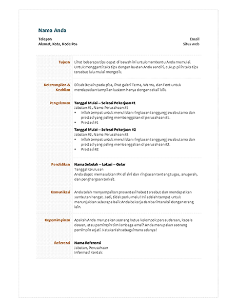 Resume fungsional