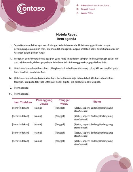 Notula rapat rangkaian ungu
