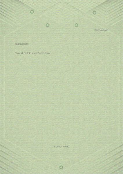 Templat untuk surat pribadi (desain hijau keabu-abuan yang elegan)