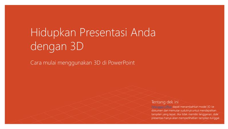 Membuat presentasi Anda menjadi hidup dengan 3D