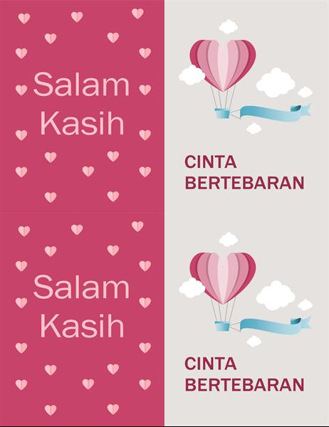 Kartu Valentine cinta di mana-mana