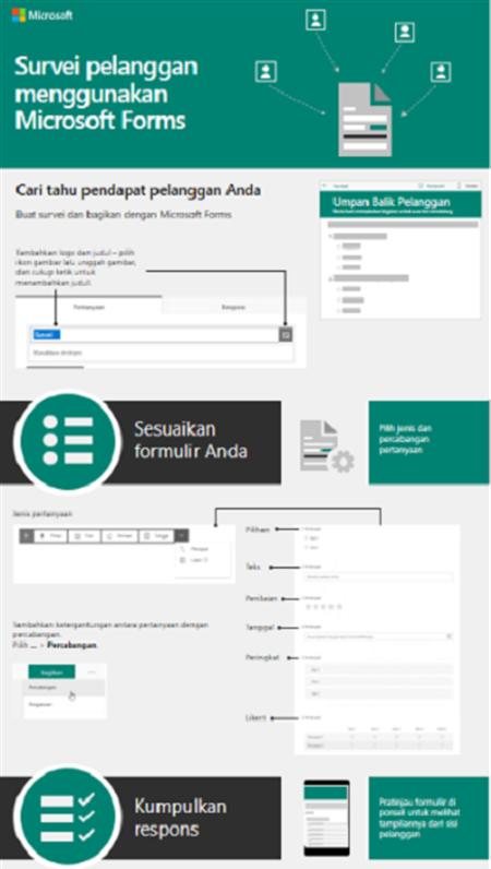 Melakukan survei pelanggan menggunakan Microsoft Forms
