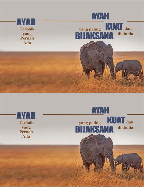 Kartu Hari Ayah bergambar gajah