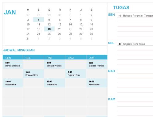Kalender siswa