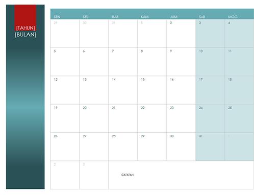 Kalender tahun kapan pun
