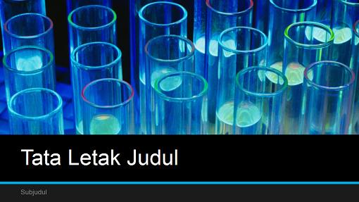 Presentasi sains laboratorium (layar lebar)