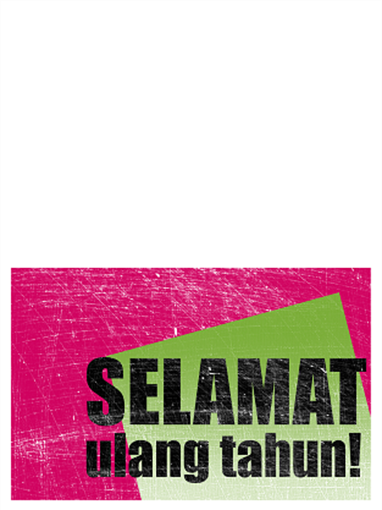 Kartu ulang tahun, latar belakang bergores  (merah muda, hitam, lipat dua)