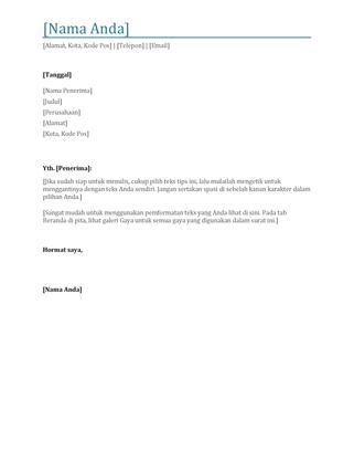 Surat lamaran di resume