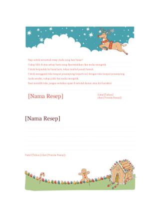 Kartu resep Natal