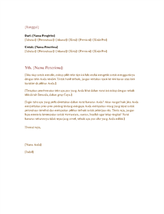 Surat bisnis formal
