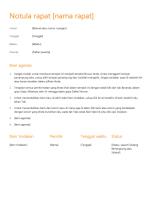 Notula rapat (Desain oranye)