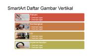 Slide SmartArt Daftar Gambar Vertikal (multiwarna dengan latar putih), layar lebar