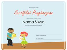 Sertifikat Penghargaan (Siswa Sekolah Dasar)