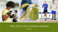 Presentasi kesehatan dan kebugaran (layar lebar)