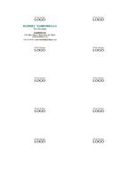 Kartu bisnis, tata letak horizontal dengan logo, nama dengan huruf besar